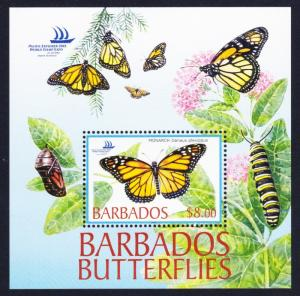 Barbados Butterflies MS SG#MS1265 SC#1077