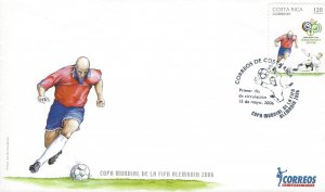 COSTA RICA WORLD CUP SOCCER CHAMPIONSHIPS GERMANY Sc 591 FDC 2006