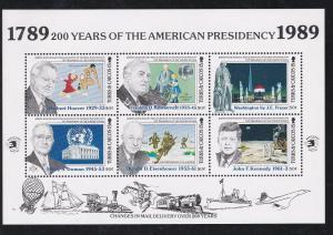 Turks & Caicos # 776-778, U.S. Presidents, Sheetlets, NH, 1/2 Cat.