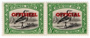 (I.B) South-West Africa Postal : Official Overprint ½d