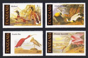 Tanzania Birds Audubon 4v SG#464-467 SC#306-309