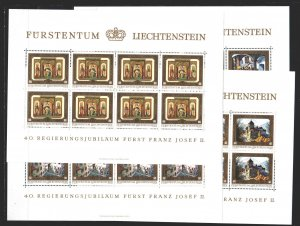 Liechtenstein. 1978. Small sheet 706-9. Castles, architecture. MNH.