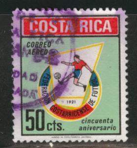 Costa Rica Scott C531 used  1971  Airmail Soccer stamp