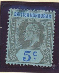 British Honduras Stamp Scott #60, Mint Hinged, Small Thin Spot