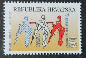Croatia 1997 maps model mnh