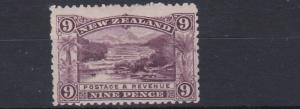 NEW ZEALAND  1898      S G 256  9D   PURPLE    MH   CAT £75