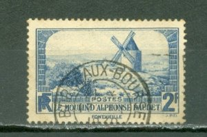 FRANCE 1937 WINDMILL #307 VERY NICE CANCELLATION...NO THINS