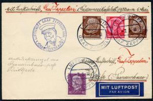 GERMANY ZEPPELIN SOUTH AMERICA FLIGHT 5/7/33 7/18/33 TO PERNAMBUCO BRAZIL 5/9/33