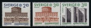 Sweden 1628,30b MNH EUROPA, City Library, Lewerentz Church
