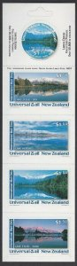 NEW ZEALAND Universal Mail $7.50 International Mail Booklet - LAKES.........R511