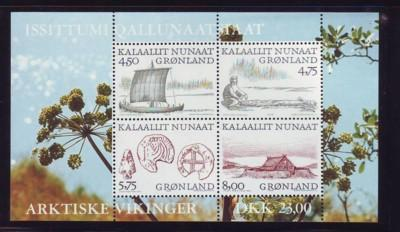 Greenland Sc 354a 1999 Arctic Vikings stamp sheet mint NH