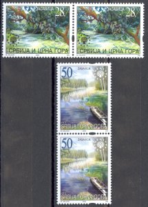 Serbia Sc# 192-193 MNH Pair 2003 Nature Protection
