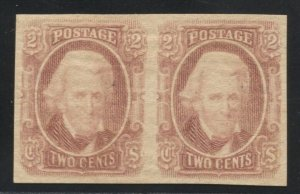 Confederate CSA 8 pair OG LH XF Crowe Cert  (TJ 10/19)