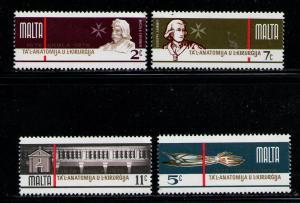 MALTA 1976 MNH SC.514/517 School of Surgery 300th