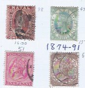 NATAL 1874-1891 SCV $58.00 STARTS AT 25% OF CAT VALUE