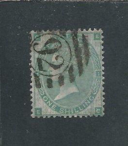 GB-QV 1862-64 1s GREEN FU SG 90 CAT £300
