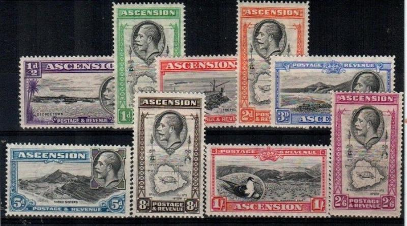 Ascension Scott 23-31 Mint hinged (Catalog Value $98.00)
