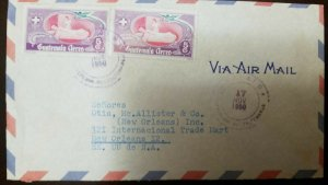 O) 1950 GUATEMALA, NURSE AND PATIENT - SC C177 5c, AIRMAIL TO USA