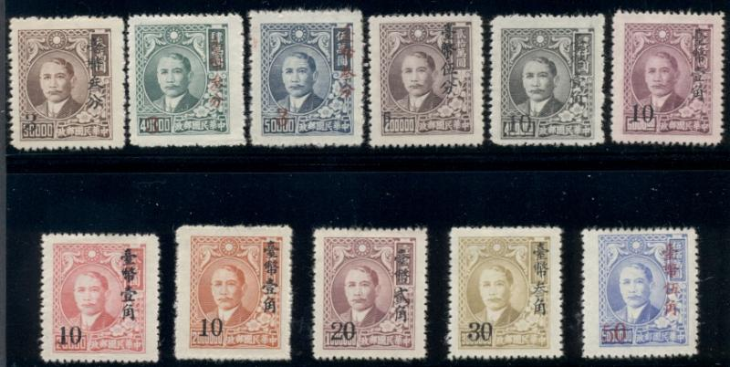 CHINA #1025-36, Complete set except #1033 ($35.00), unused no gum as issued,