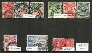 Basutoland: 1937-66 postmark group (9)