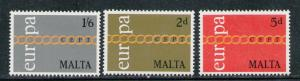 MALTA 1971 MNH SC.425/427 Europe CEPT