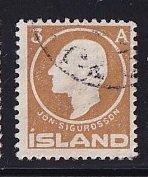 Iceland    #87  used   1911  Jon Sigurdsson  3a