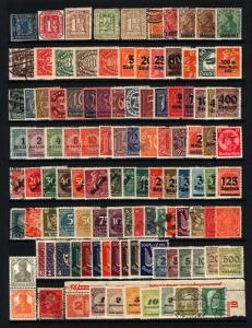 Germany & States 1861-1923 Mostly MH Lot Surcharges, Official etc 109 Items