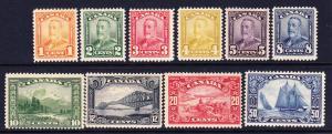 CANADA 1928-29    PICTORIALS SET TO 50c  MH  Sc 149/58