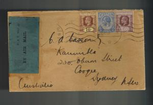 1931 Singapore First Flight Cover FFC to Australia via Imperial Airways
