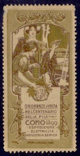 Italy 1899 Como Exposition Poster Stamp by Hohenstein