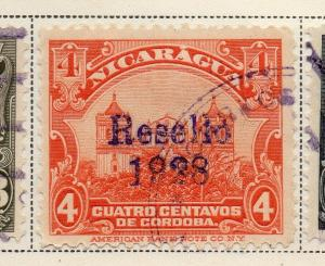 Nicaragua 1928 Early Issue Fine Used 4c. Optd 323658