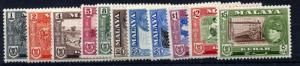 Malaya Kedah 1957 sg92 - 102 set of 11 fine mint