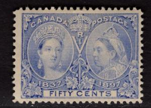 $Canada Sc#60 M/H/F-VF, slight gum bend, OG, Cv. $375