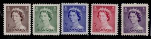 Canada 325-9 MNH Queen Elizabeth - Karsh
