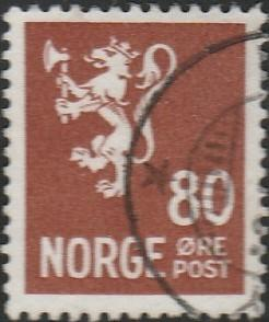 Norway, #202A Used,  From 1940-49