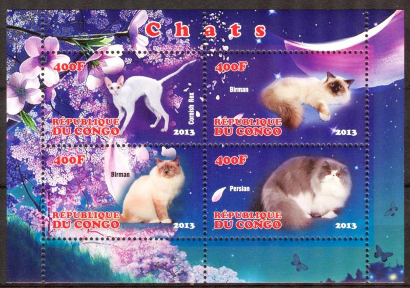 Congo 2013 Cats (1) MNH Cinderella !