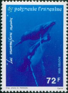 French Polynesia 1994 Sc#636,SG696 72f Humpback Whales MNH