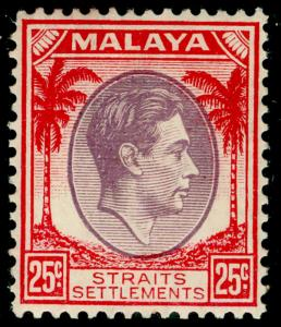MALAYSIA - Staits Settlements SG286, 25c dull purple & scarlet, M MINT. Cat £48.
