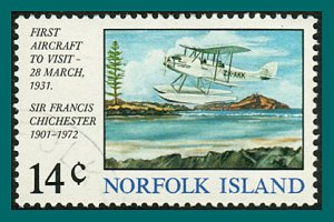 Norfolk Island 1974 First Aircraft, used  #174,SG151