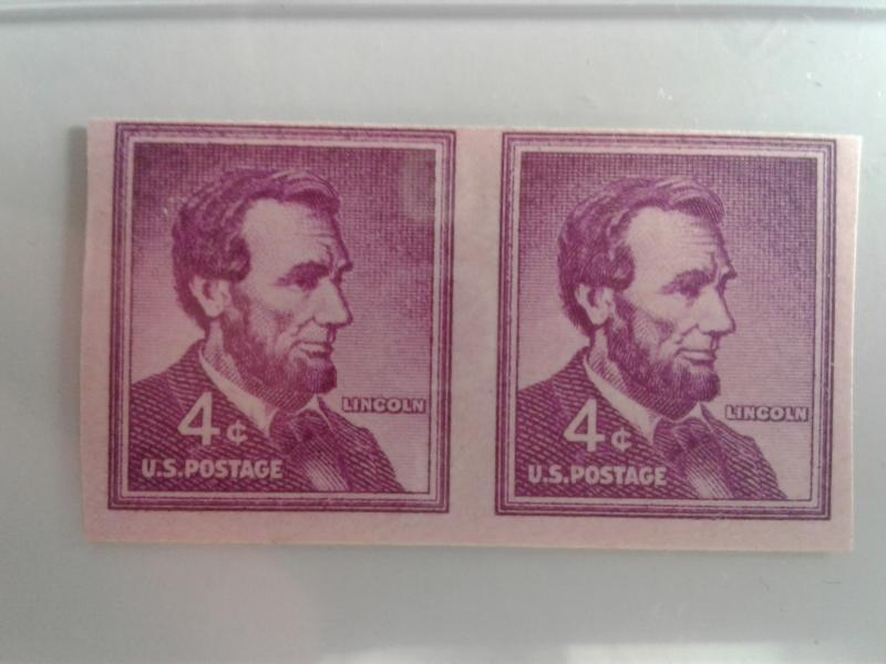 SCOTT # 1058A IMPERFERATED RARE GEM PAIR MINT NEVER HINGED STUNNING PIECE!
