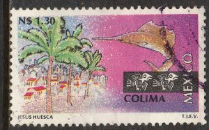 MEXICO 1785, N$1.30 Tourism Colima, fishing. USED. F-VF. (1241)