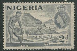 Nigeria -Scott 93 - QEII Definitive -1956 - Used - Single 2p Stamp