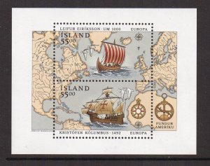 Iceland   #751  MNH  1992 sheet Europa