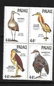PALAU, 187-190, MNH, SS, BLOCK OF 4, BIRDS