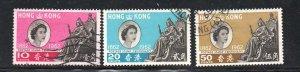 Hong Kong Sc 200-2 1962 100 years stamp set used