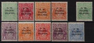 NEW GUINEA - NWPI 1918 KGV complete ½d-5d inc ½d both wmks. MNH **.
