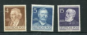 Germany Berlin 1952 Mi 91-2,96 MNH Portraits 7044