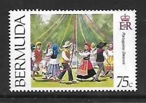 BERMUDA  699  MNH  PORTUGUESE DANCERS 1995