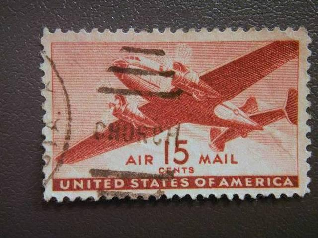 USA, 1941, used, 15c. red, Air, Mail Plane