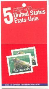 Canada - 1989 44c Walrus Booklet USC #BK104a (Pane #1171b) NH